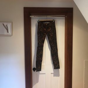 7 for All Mankind patterned skinny Jean
